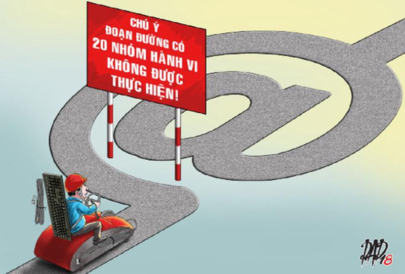 20 nhóm hành vi bị cấm trên mạng