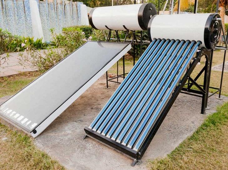 hai loại máy nước nóng dạng ống và dạng tấm phẳng