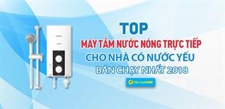 Top 4 máy tắm nước nóng có bơm trợ lực bán chạy nhất Điện máy XANH năm 2018
