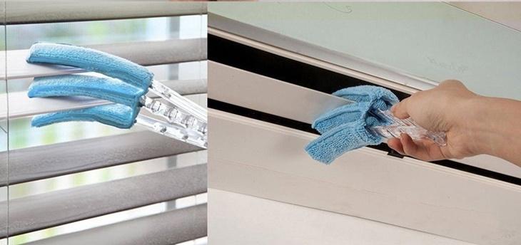 Khăn lau khe cửa chuyên dụng giúp bạn dễ dàng lau chùi các khe nhỏ, thanh chắn