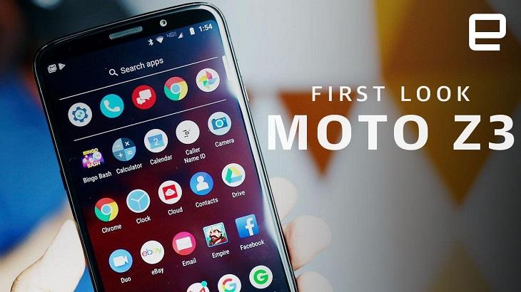 Điện thoại Motorola (dòng Moto Z3) truy cập 5G thông qua nhiều mô-đun đính kèm