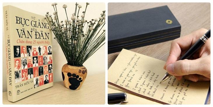 Tặng sách theo sở thích thầy cô hay cây viết tốt đặt trong hộp sang trọng