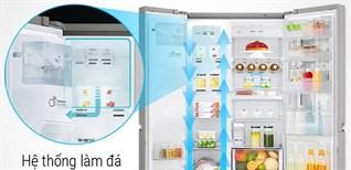 Cách sử dụng chức năng làm đá tự động trên tủ lạnh LG