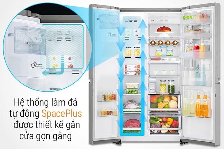 Chức năng làm đá tự động trên tủ lạnh LG