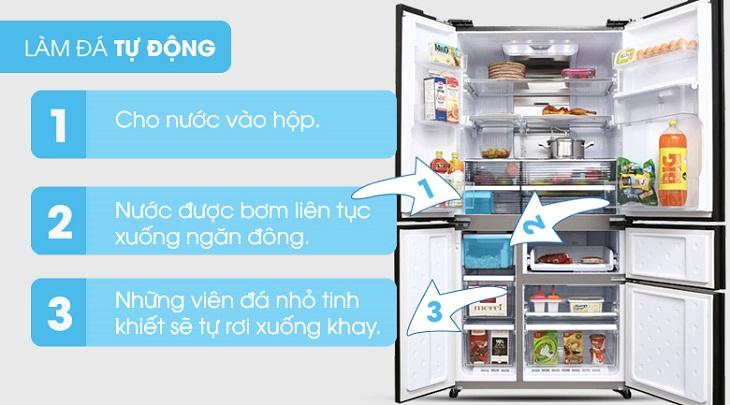 Cách sử dụng chức năng làm đá tự động trên tủ lạnh Sharp