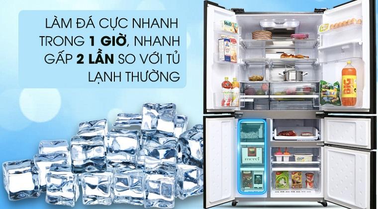 Chức năng làm đá tự động trên tủ lạnh Sharp