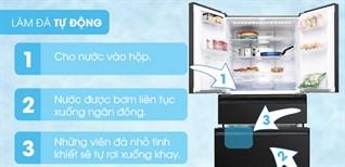 Cách sử dụng chức năng làm đá tự động trên tủ lạnh Mitsubishi