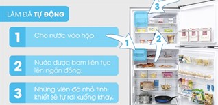 Cách sử dụng chức năng làm đá tự động trên tủ lạnh Electrolux