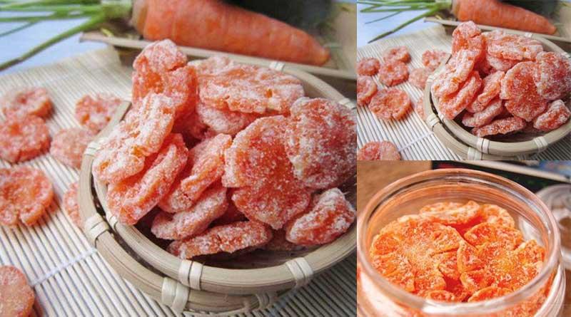 Bước 6 Thành phẩm Mứt cà rốt sấy khô