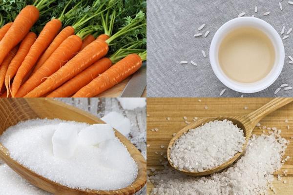 Nguyên liệu món ăn mứt cà rốt dẻo và mứt cà rốt sấy khô