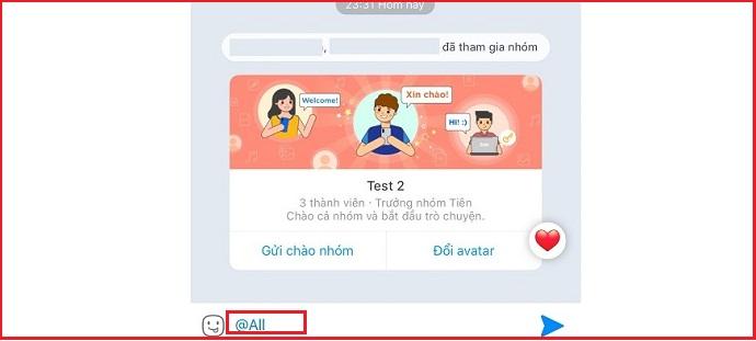 Bước 3: Chọn thành viên và gửi tin nhắn