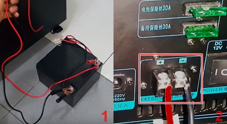 Làm thế nào để kết nối loa kéo với bình ắc-quy qua cổng DC12v?