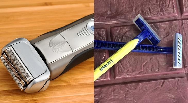 So sánh máy cạo râu và dao cạo râu bình thường