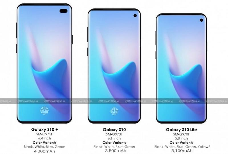 Thông tin về kích thước màn hình, dung lượng pin của dòng Galaxy S10 - ảnh 2