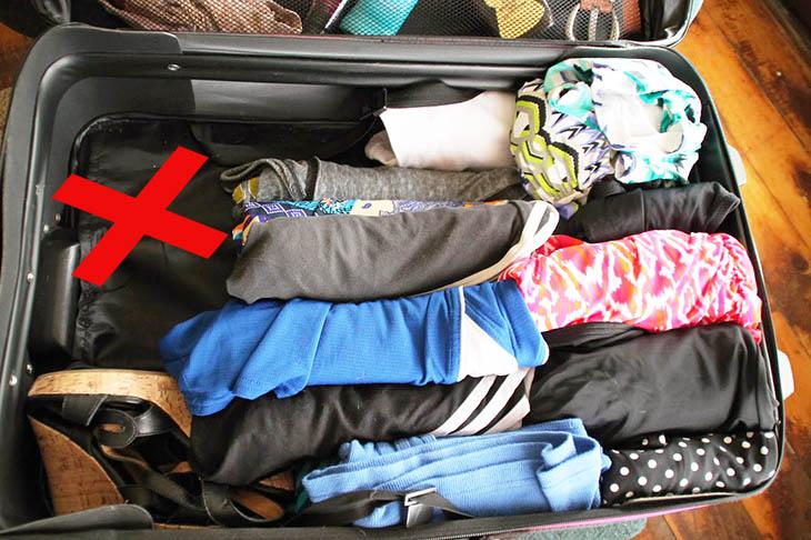 Đừng để lại bắt cứ khoảng trống nào trong vali