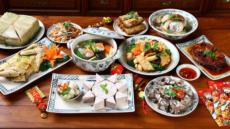 Các món ăn trong mâm cỗ - 8 đĩa