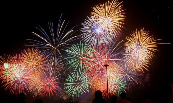 Bắn pháo hoa tại Kon Tum