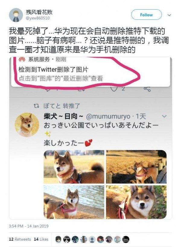 Cư dân mạng Trung Quốc bức xúc vì ảnh tải về điện thoại Huawei đều bị xóa