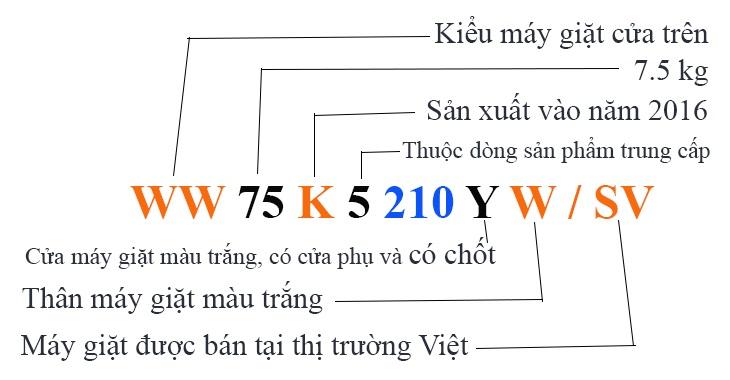 Hướng dẫn cách đọc mã sku trên máy giặt Samsung