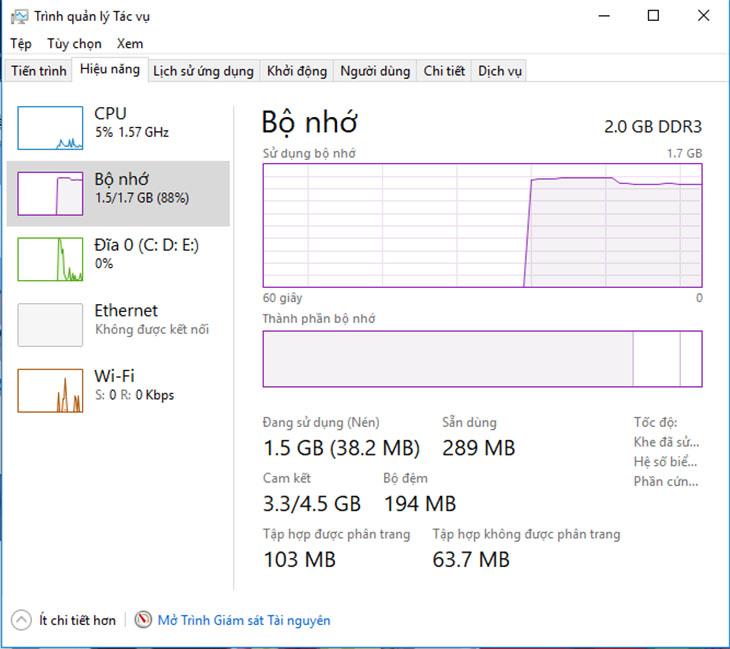 Bộ nhớ máy tính (RAM) - Ví dụ