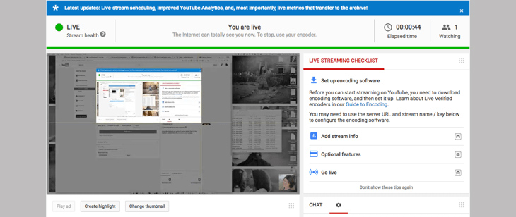 Livestream YouTube trên máy tính + Bước 7