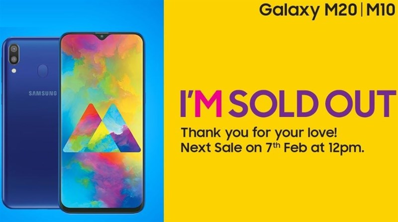 Galaxy M10, Galaxy M20 cháy hàng sau vài phút mở bán