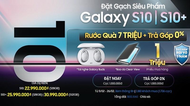 Đặt gạch Galaxy S10, S10+