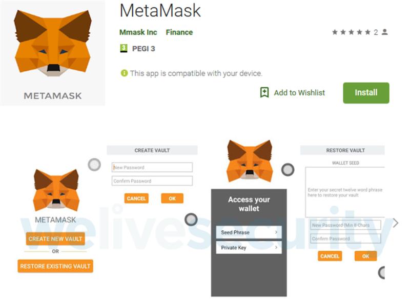 Ứng dụng MetaMask giả mạo trên CH Play đã bị Google gỡ xuống