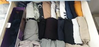 Cách xếp quần áo gọn gàng để được nhiều quần áo hơn trong tủ nhỏ