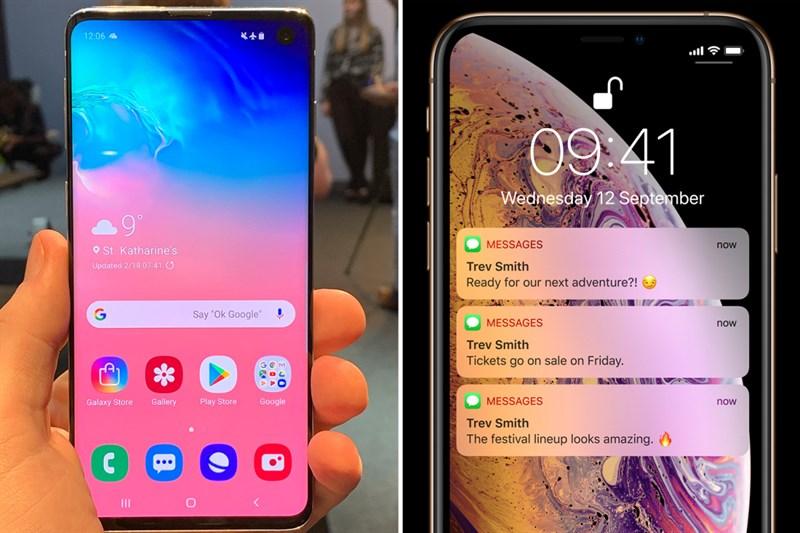 So sánh Galaxy S10 và iPhone Xs: Khác biệt điều gì?