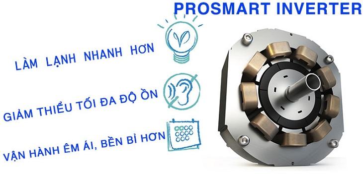 Công nghệ ProSmart Inverter tiết kiệm điện năng mạnh mẽ