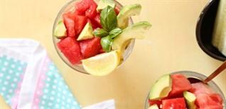 Hướng dẫn cách làm món salad cà chua và dưa hấu giải nhiệt ngày hè