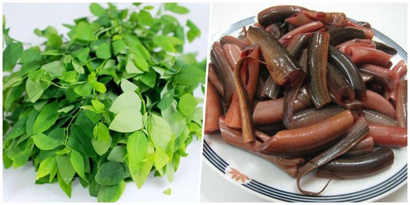 Cháo lươn nấu rau ngót
