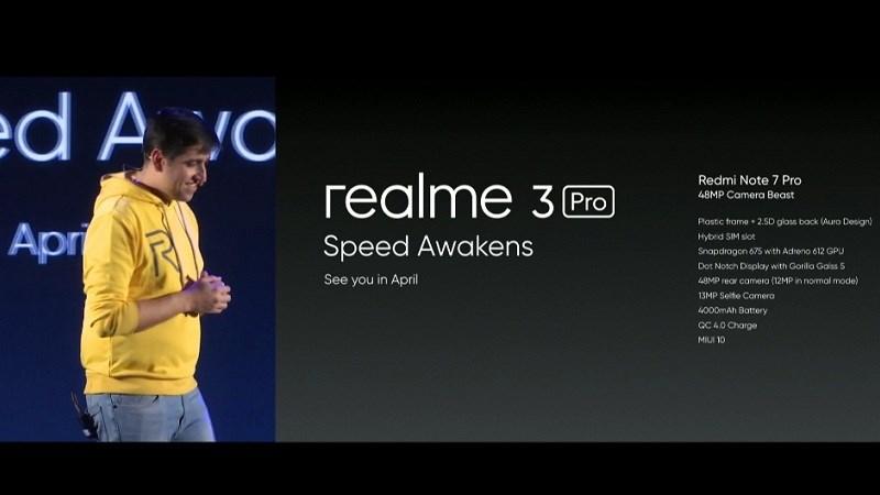 Realme 3 Pro sẽ ra mắt vào tháng 4, cạnh tranh với Redmi Note 7 Pro