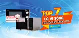 Top 7 lò vi sóng bán chạy nhất tại Điện máy XANH tháng 2/2019