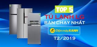 Top 5 tủ lạnh LG bán chạy nhất Điện máy XANH tháng 2 - 2019