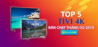 Top 5 Tivi 4K bán chạy nhất tháng 02-2019 tại Điện máy XANH
