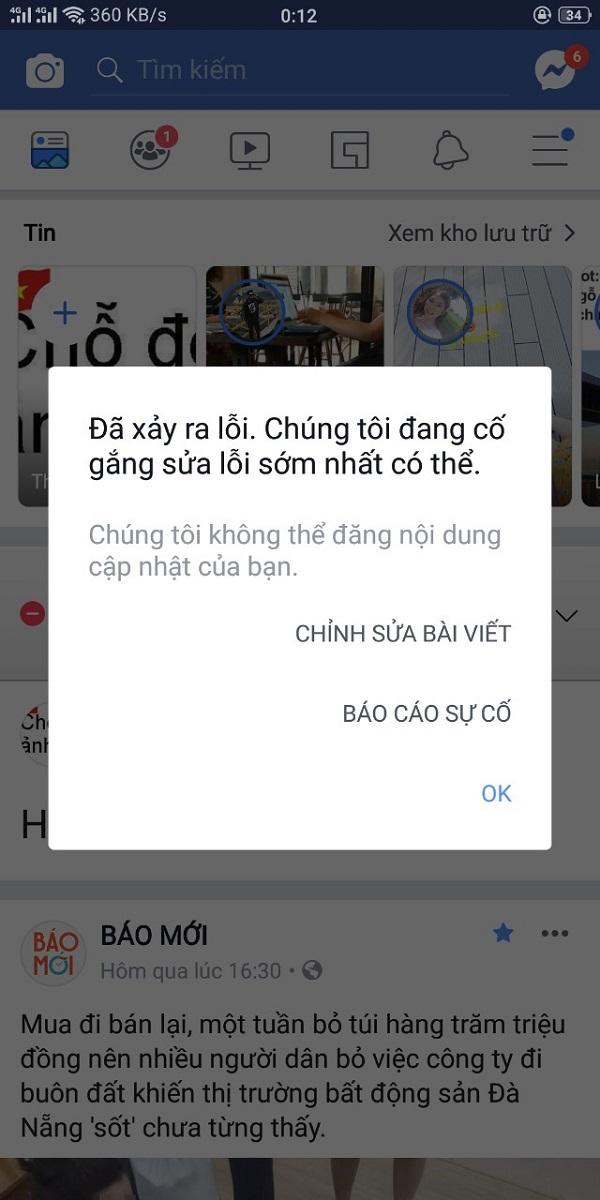 Facebook đang bị mất kết nối, không thể truy cập được - ảnh 3
