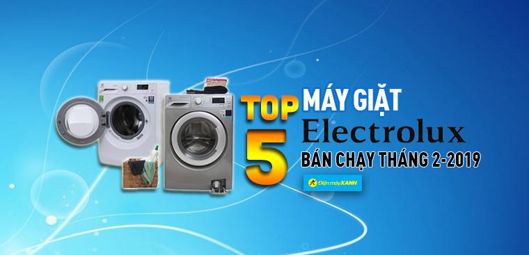 Top 5 máy giặt Electrolux bán chạy nhất Điện máy XANH tháng 2/2019