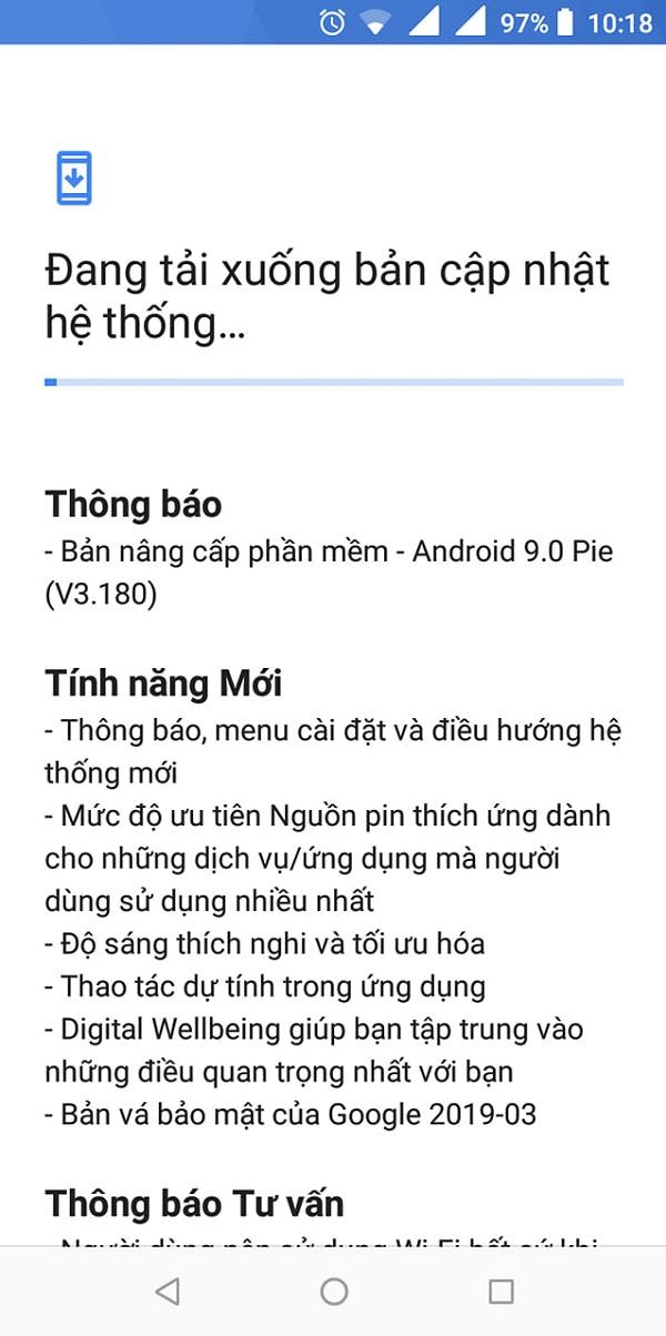 Nokia 3.1 tại Việt Nam chính thức được cập nhật Android 9.0 Pie