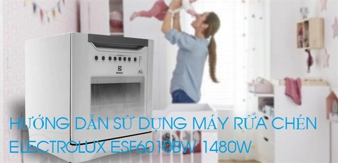 Hướng dẫn sử dụng máy rửa chén Electrolux ESF6010BW 1480W