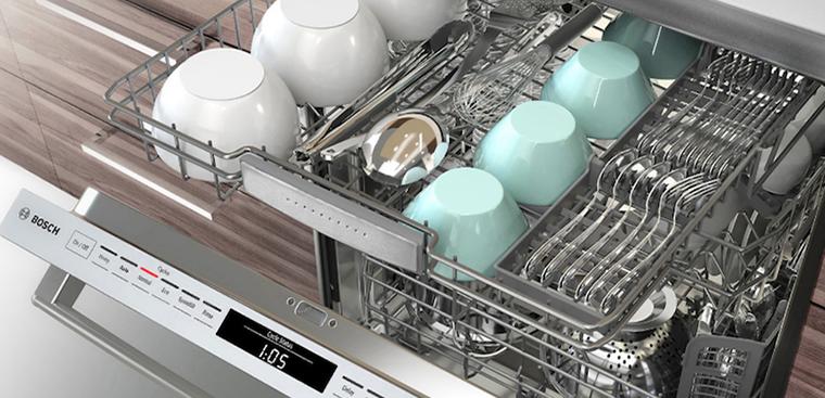 Cách sắp xếp vật dụng trong máy rửa chén