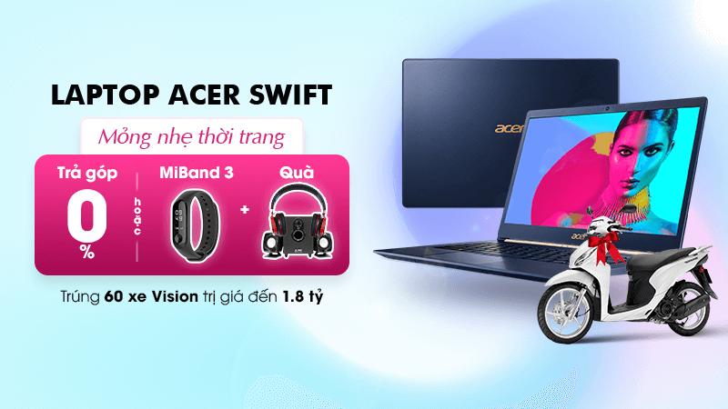 Khuyến mãi laptop Acer Swift