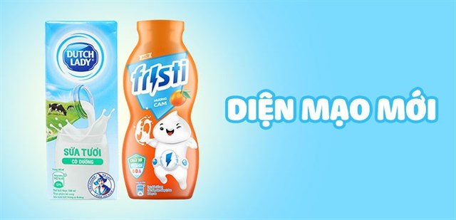 Thông báo thay đổi bao bì sữa tiệt trùng Dutch Lady và sữa chua uống Fristi