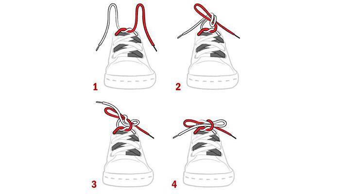 Cách buộc dây giày nhanh không bao giờ tuột