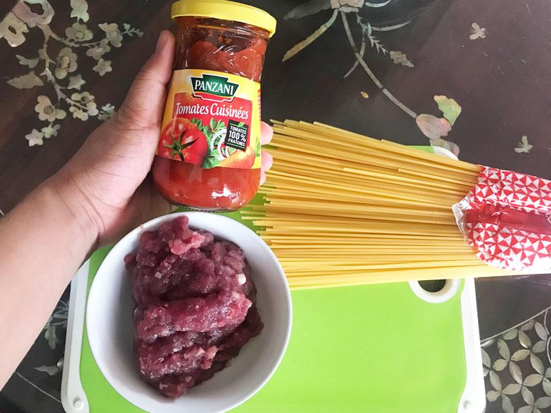 Nguyên liệu làm mì Ý spaghetti