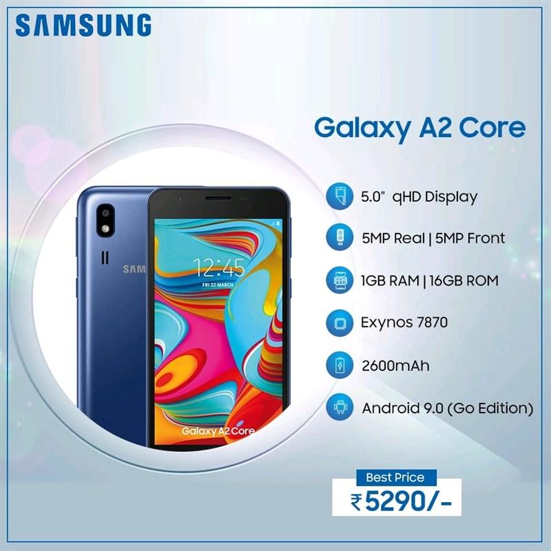 Cấu hình và giá bán của Galaxy A2 Core