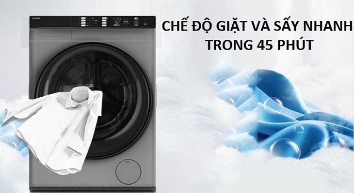 Giặt và sấy nhanh trong 45 phút