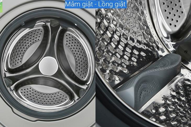 Lồng giặt được làm từ thép không gỉ