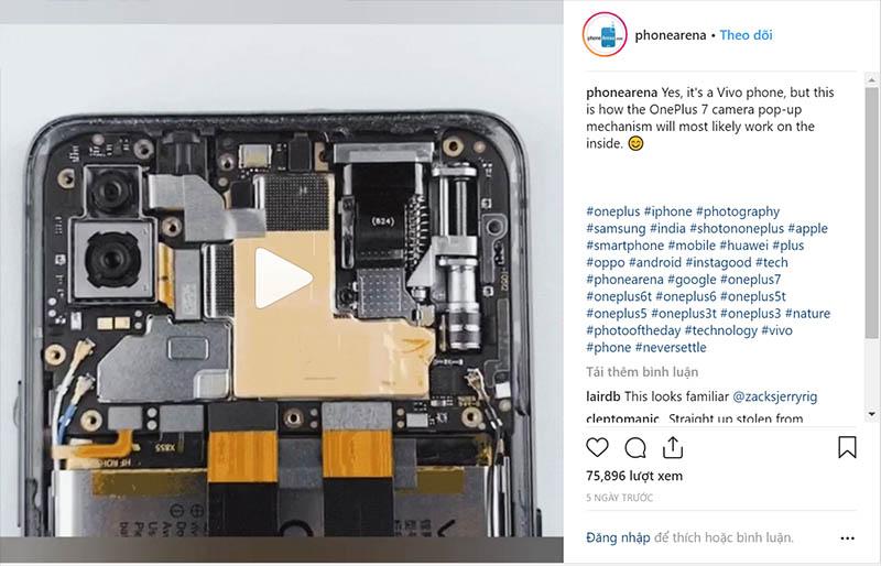 """OnePlus 7 sẽ dùng cơ chế camera """"thò thụt"""" giống như smartphone Vivo - 261289"""